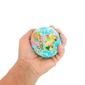 dryujdytru 1pcCreative Mapa del Mundo Tierra Globo Bola de Esponja Atlas Geografía Juguete Diámetro Regalo – Aleatorio