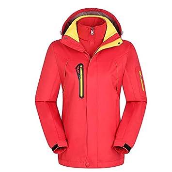 XYL HOME Couples Jackets_Winter Couples Chaquetas Outdoors Fleece Two-Piece Windproof Waterproof Hombres y Mujeres, Mujeres Rojo, L: Amazon.es: Deportes y ...