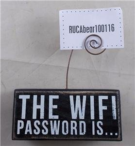 Primitives By Kathy WIFI Password Sign Holder (Display Primitive)