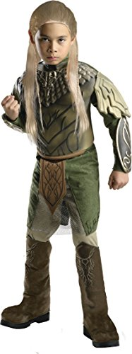 [The Hobbit: Desolation of Smaug, Deluxe Legolas Costume, Child Small - Small One Color] (Lotr Elves Costumes)