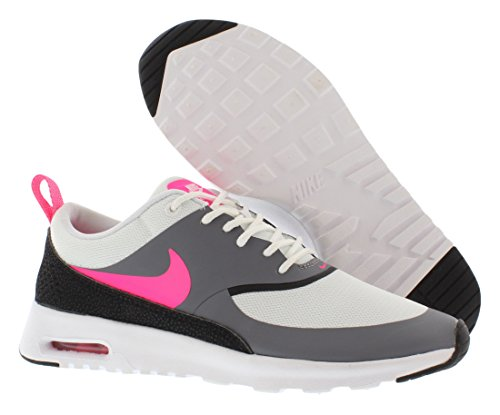 Nike WMNS Air Max Thea, Low Sneakers Women White/Hyper Pink/Cool Grey/Black 100