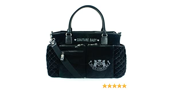 34245bd3af Amazon.com  Juicy Couture Diaper Baby Bag Black New Bib Wipe Box Changing  Pad Latest Brand New with Tag  Baby