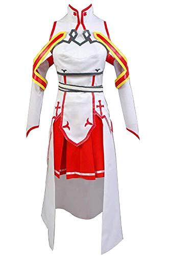cossun Women's Sword Art Online Asuna Cosplay Costume Outfit Gown Dress Halloween -