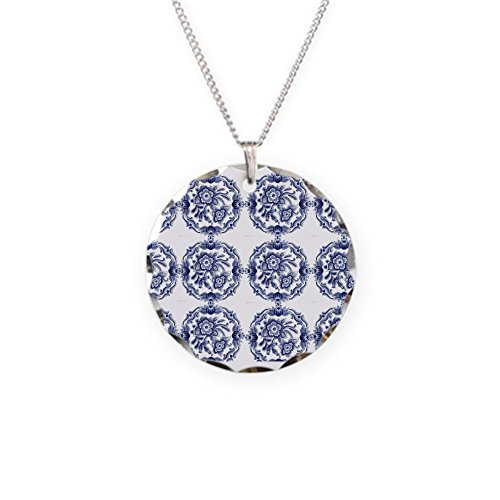 CafePress - Blue Delft Horizi Necklace - Charm Necklace with Round -