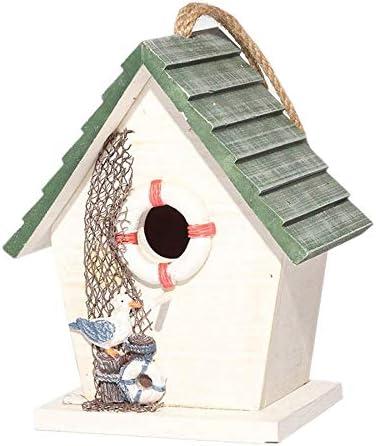 Nosterappou Casa para pájaros Casa Nido para pájaros Patio Exterior Jardín Interior Jardín Casa de Madera para pájaros: Amazon.es: Hogar