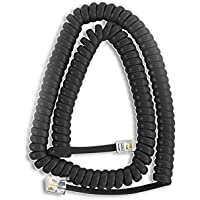 Pack of 10 Charcoal Handset Cords for Nortel Phones