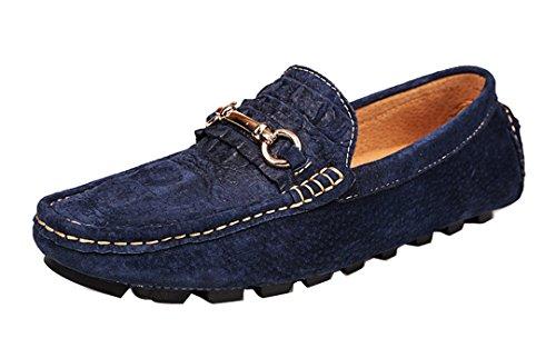 TDA ,  Herren Durchgängies Plateau Sandalen mit Keilabsatz , blau - blau - Größe: 43 EU