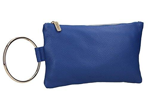 Pam Shop - Bolso al hombro de piel para mujer Azul azul