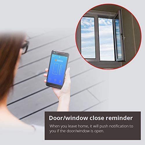 Notifications et Actions du Smartphone sur dautres appareils MHCOZY Capteur de fen/être de Porte WiFi Intelligent Compatible Alexa et Google Home d/étecteur ferm/é de capteur magn/étique de s/écurit/é