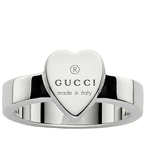 GUCCI silver heart TRADEMARK Ring -7 1/4 (US)-O(UK) YBC223867001015