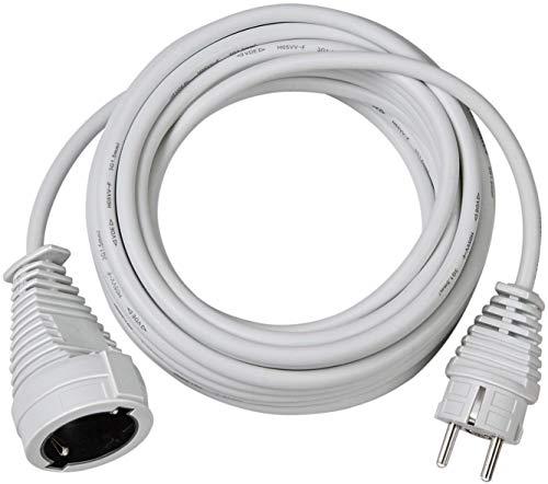 Brennenstuhl Cable alargador de corriente de 5 m (alargador eléctrico para interiores) blanco