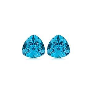 6.80-8.05 Cts of 10 mm AAA Trillion Swiss Blue Topaz ( 2 pcs ) Loose Gemstones