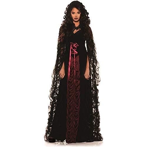 True Blood Vampire Halloween Costumes (Underwraps Midnight Mist Gothic Womens Costume Large Black / Red)