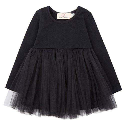 GRACE KARIN Girl Ruffled A-line Swing Sleeveless Bridesmaid Wedding Dress 80 AM1012-1 -