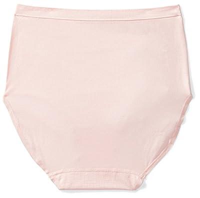 Arabella Women's Seamless Hi-Waist Full Coverage Brief Panty, 3 Pack, Ash Grey/Sky Blue/Peach, X-Large