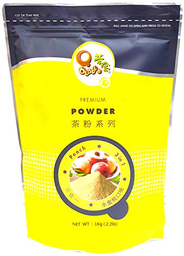 (Qbubble Tea Powder, Peach, 2.2 Pound)