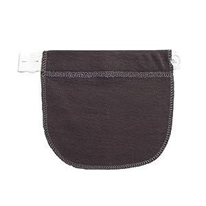 Avalita Maternity Waistband Belt Extender Adjustable Elastic Pants Waist Pregnant Women (Dark Grey)