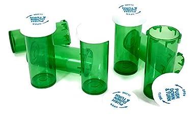 Child Resistant Prescription Bottles/… 30 Dram//65 Units Green Vials 8,13,16,20,30,40 /& 60 Dram Sizes