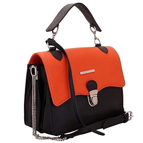 Borsa Satchel O multi tasca a di Coral Lapis design Lupo donna per tracolla arancione qTfC6x