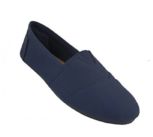 Slip Mens Easy Navy on USA S308M 360m Canvas IFRwRq