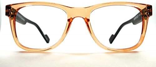 Retro Eyeworks Superflex Wayfarer Bifocal Reading Glasses 51-19 MM 1.75x Transparent Orange