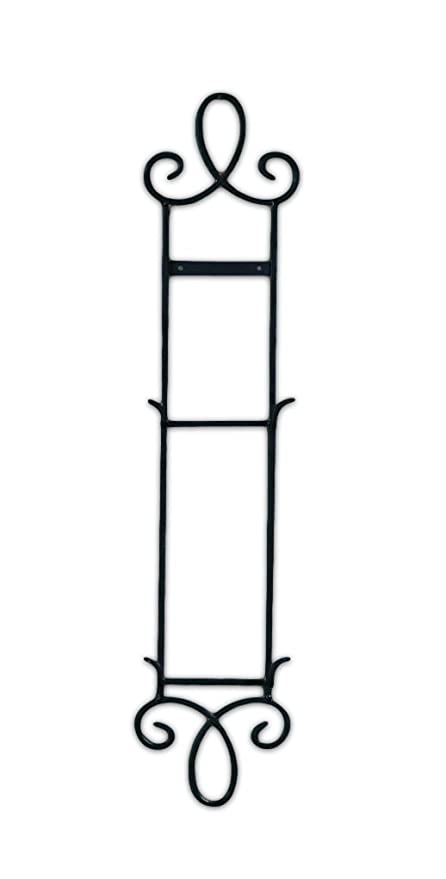 Augusta Narrow 2 Tier Black Metal Wall Vertical Wall Plate Rack  sc 1 st  Amazon.com & Amazon.com: Augusta Narrow 2 Tier Black Metal Wall Vertical Wall ...