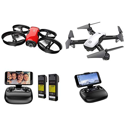 SANROCK U61W and U52 Drones for Kids and Adults with 720P HD camera