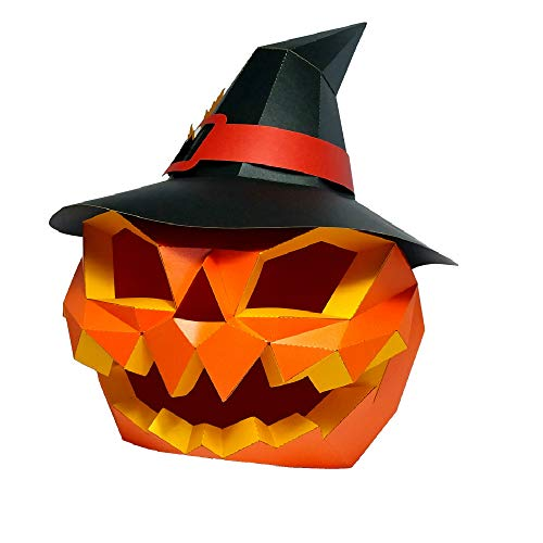 Animal Clumsy 3D mask Party Halloween Pumpkin Head Helmet DIY Cosplay Creative Handwork Funny Masker Lovely (Pumpkin Head ()
