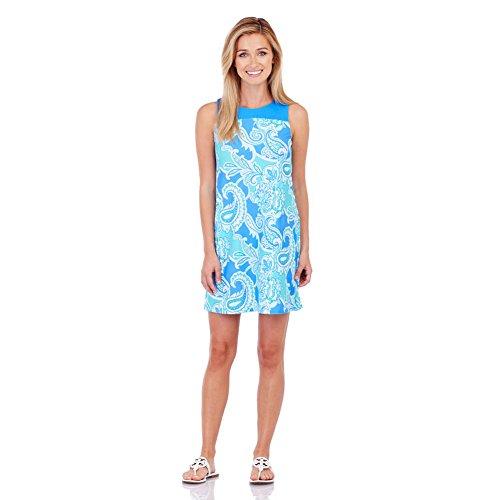 Jude Connally Molly Sleeveless Paisley Maxi Soft Blue XS Womens - Paisley Dress Warehouse