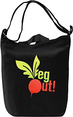 Veg Out Borsa Giornaliera Canvas Canvas Day Bag| 100% Premium Cotton Canvas| DTG Printing|