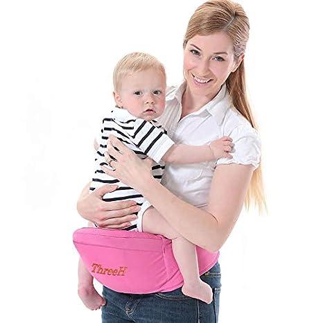 ThreeH Ligero para cintura asiento bebé con carrito de bebé para de cadera BC10,Pink