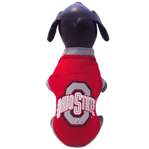 NCAA Ohio State Buckeyes Athletic Mesh Dog Jersey, Small