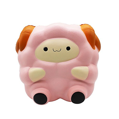 HooMore 4.3'' Cute Jumbo Sheep Squishies Super Slow Rising Gaint Kawaii Scented Creamy Foam Squishies Lamb Animal Decompression Squeeze Kids Toy Random Shipping