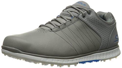 Skechers Mens Outlet (Skechers Performance Men's Go Golf Elite 2 Golf Shoe,Gray/Blue,8.5 M US)