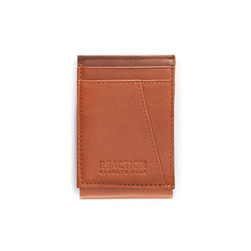 Kenneth Cole REACTION  Men's  RFID Security Blocking Front Pocket Wallet,Tan