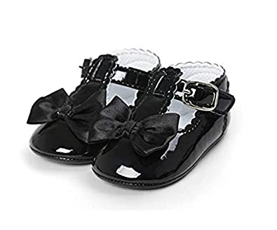 5e79fc22b09 6-9 Meses - Zapatos para niñas - Niñas - Color Negro - WLB-190 (Tamaño 18  EU   11 del Fabricante)  Amazon.es  Zapatos y complementos