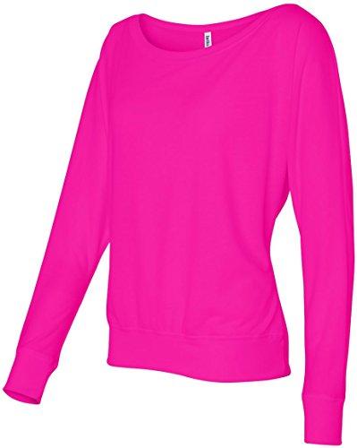 Traje de neopreno para mujer Bella 3,7 G. Long-con cierre de solapa y nivel de interrogatorio para el hombro T-camiseta de manga corta Off Rosa - Púrpura Neón