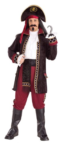 Deluxe Black Heart The Pirate Costume - Adult Std.