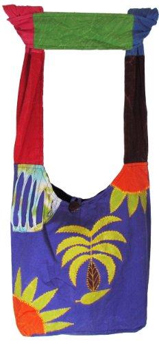 Handmade La Shangri Gypsy in Cotton Hobo Nepal Hippie Palm Bag crossbody Nook Tree aqrqdv