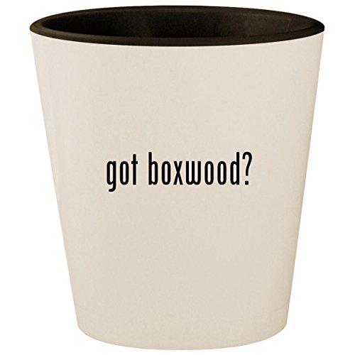 got boxwood? - White Outer & Black Inner Ceramic 1.5oz Shot (Ivy Spiral Topiary)