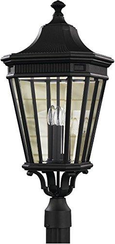 Murray Feiss Pier - Feiss OL5408BK Cotswold Lane Outdoor Post Lighting, Black, 3-Light (12