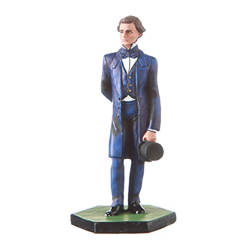 danila-souvenirs Tin Toy Soldier USA Civil war Confederates Jefferson Davis Hand Painted Metal Sculpture Miniature Figurine 54mm #5.61