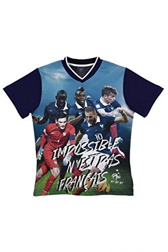Desconocido Camiseta de La Selección de Fútbol de Francia Bleu/Vert 5 Años
