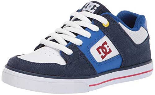 DC Boys' Pure Sneaker, Navy/RED, 2 M M US Little Kid