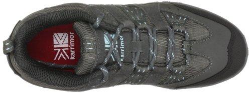 Karrimor Traveller II - Zapatillas de senderismo de ante para mujer Gris (Pewter/Blue)