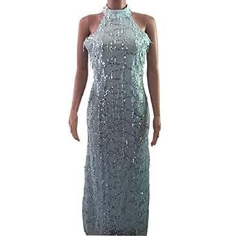 1f7653631bf5a Honghu Vestido de Lentejuelas con borlas y Fiesta Sexy Club Mujer ...