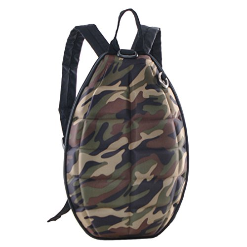 Backpack PINCHUANGHUI Creative Grenade Bomb Turtle Shell Design Stylish Backpack Cool School Bag(12.6x9.4x2.8In) - Camouflage