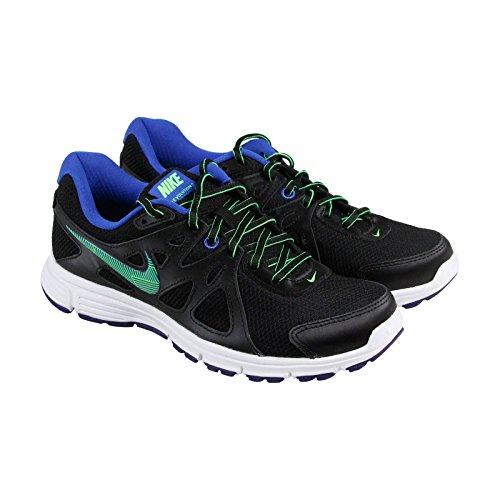 Nike Womens Revolution 2 Running Shoe (8.5 B(M) US, BLACK/GAME ROYAL/WHITE/GREEN STRIKE) by NIKE