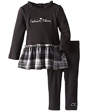 Baby Girls' with Plaid Ruffle Tunic with Leggings