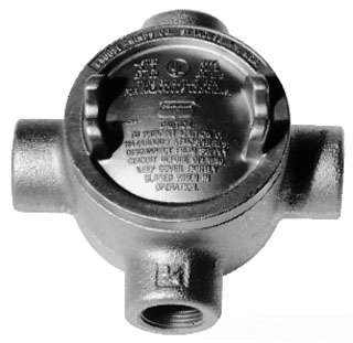 Crouse-Hinds GUAX36 Feraloy Iron Alloy Round Conduit Outlet Box With Cover 1 Inch Condulet